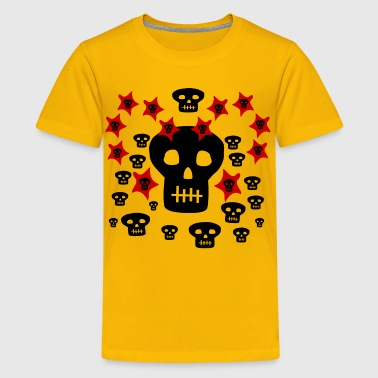 Multitude of Skulls With Stars--DIGITAL DIRECT PRINTING ONLY! - Kids' Premium T-Shirt