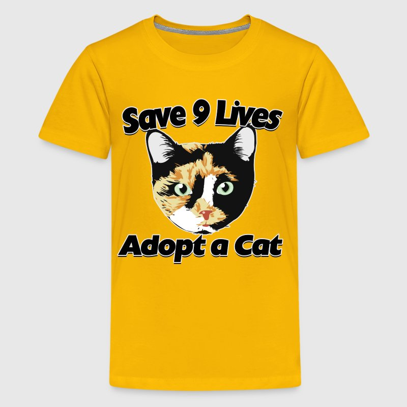 Save 9 Lives Adopt a Cat - Kids' Premium T-Shirt