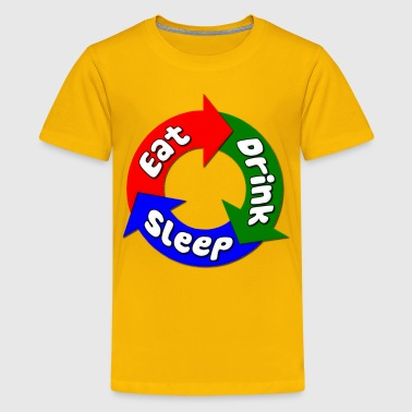 Eat, Drink, Sleep Fat - Kids' Premium T-Shirt