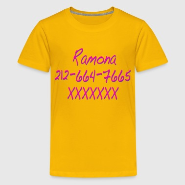 Ramona Phone Number Scott Pilgrim - Kids' Premium T-Shirt