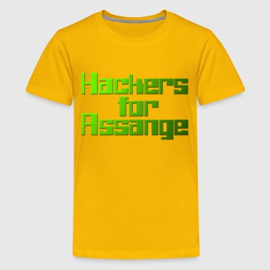 Hackers For Assange - Kids' Premium T-Shirt