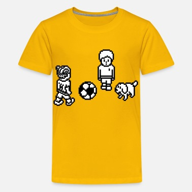 Soccer Game Players - Kids' Premium T-Shirt