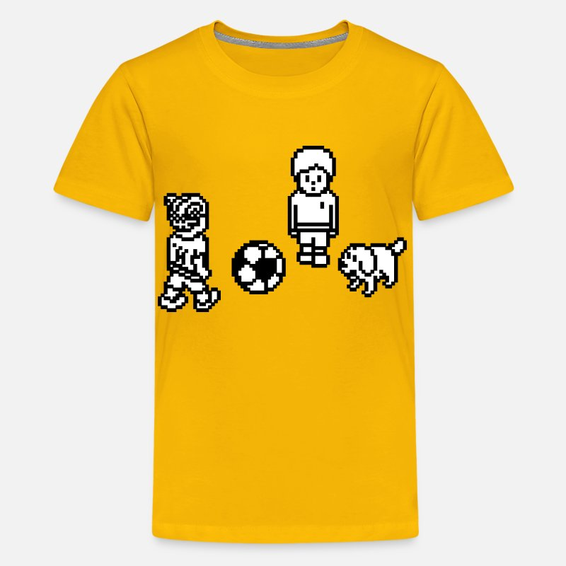 Soccer T-Shirts - Soccer Game Players - Kids' Premium T-Shirt sun yellow