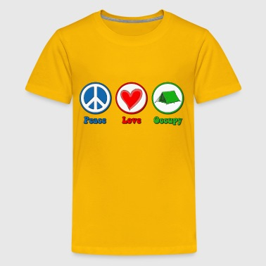 Peace Love Occupy Protest - Kids' Premium T-Shirt