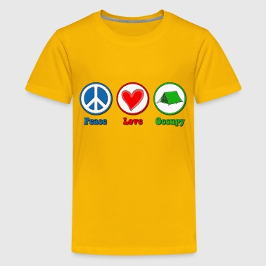 Tax The Rich Peace Love Occupy Protest - Kids' Premium T-Shirt