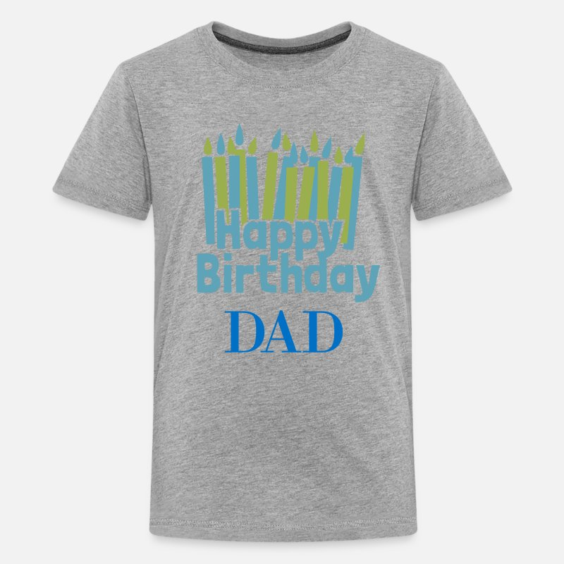 Happy Birthday Candle Dad Kids Premium T Shirt