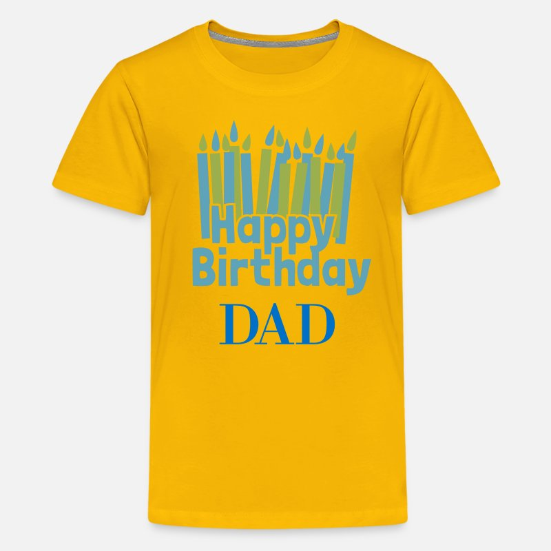 Kids Premium T ShirtHappy Birthday Candle Dad