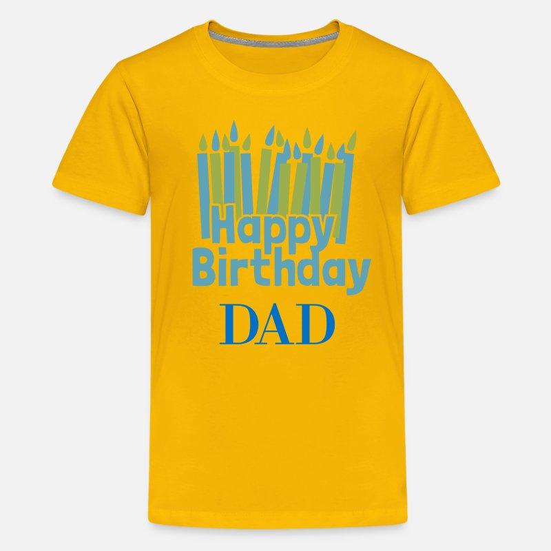 Kids Premium T ShirtHappy Birthday Candle Dad