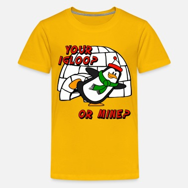 Brr Your Igloo Or Mine Chilly Willy Penguin - Kids' Premium T-Shirt