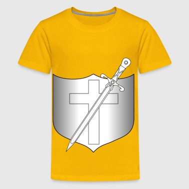 Shield and Longsword - Kids' Premium T-Shirt