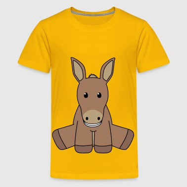 Look At Donkeys Smiling donkey - Kids' Premium T-Shirt