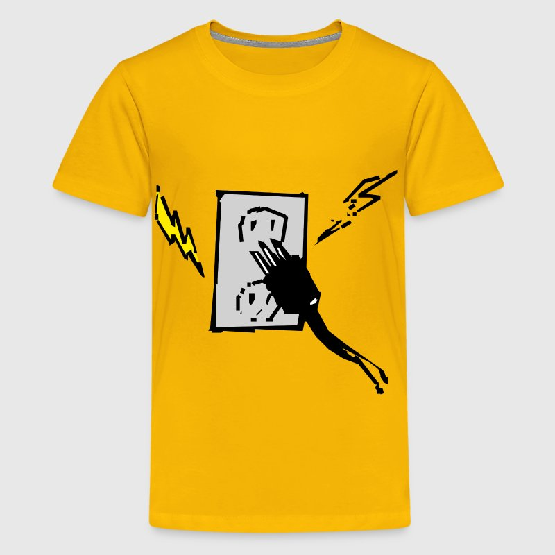 Electrical outlet and plug - Kids' Premium T-Shirt