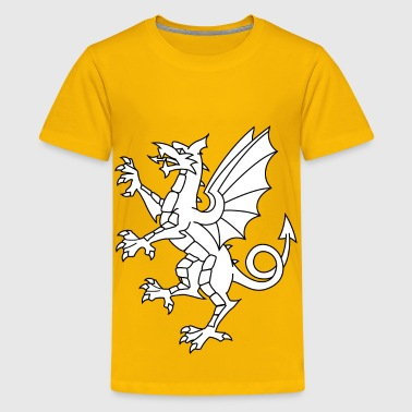 Somerset Dragon White - Kids' Premium T-Shirt