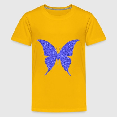 Threesome Blue Sapphire Butterfly Silhouette 6 - Kids' Premium T-Shirt