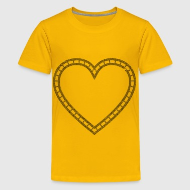 Double Celtic Knot Heart - Kids' Premium T-Shirt
