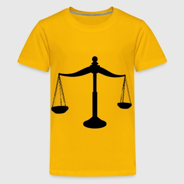 Brass Scales Of Justice Silhouette - Kids' Premium T-Shirt
