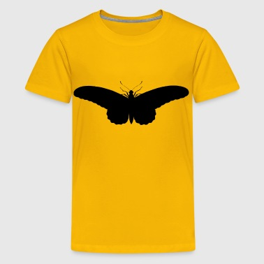 Vintage Butterfly Illustration Silhouette - Kids' Premium T-Shirt
