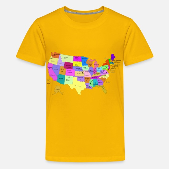 United States Map With Capitals (Fixed) Kids' Premium T-Shirt ... on virginia united states map, cancer statistics 2013 united states map, united states graphic map, united states economy map, product of the usa, united states agriculture map,