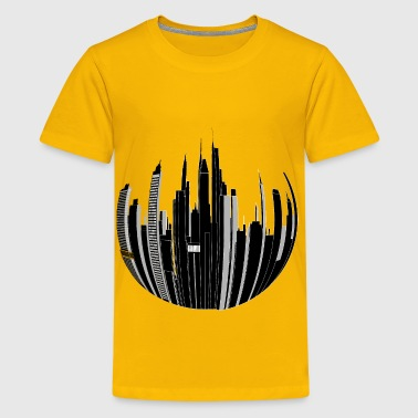 Distorted City Skyline 2 - Kids' Premium T-Shirt