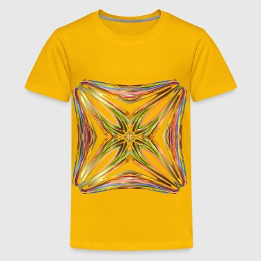Hexagonal Tessellation Design 10 - Kids' Premium T-Shirt