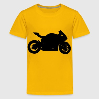Red Motorcycle Silhouette - Kids' Premium T-Shirt