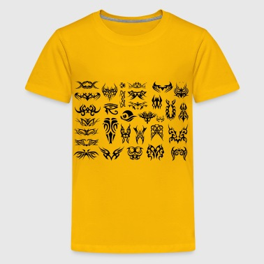 Tribal Tattoos Black - Kids' Premium T-Shirt