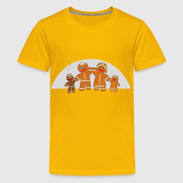 Family life of the gingerbread man - Kids' Premium T-Shirt