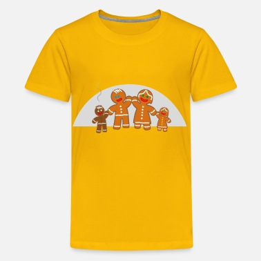 Gingerbread Family life of the gingerbread man - Kids' Premium T-Shirt