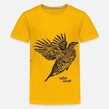 Grouse Ruffled Grouse Wings Outstretched - Kids' Premium T-Shirt