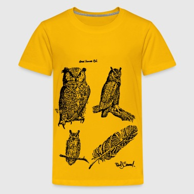 Great horned owls - Kids' Premium T-Shirt