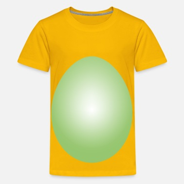 Lime Green Lime Green Easter Egg - Kids' Premium T-Shirt