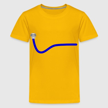 Blue ethernet cable - Kids' Premium T-Shirt