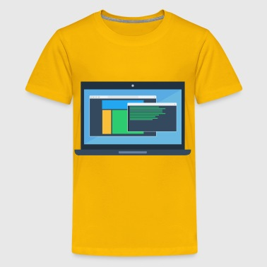 Laptop Mockup - Kids' Premium T-Shirt