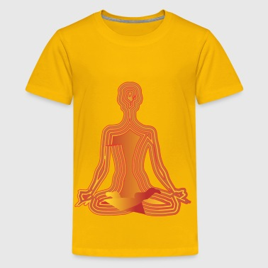 Sedentary orange lotus - Kids' Premium T-Shirt