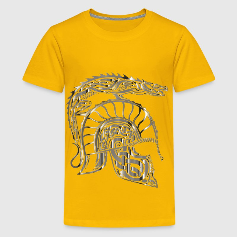 Children Of Hurin Dragon Helm Chrome No Background - Kids' Premium T-Shirt