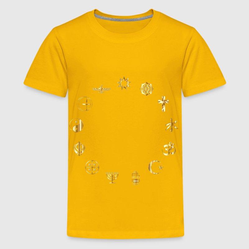 World Religious Symbols Gold By Martmel Cus Spreadshirt