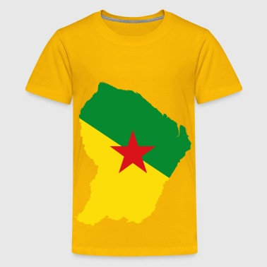 French Guiana French Guiana Map Flag - Kids' Premium T-Shirt