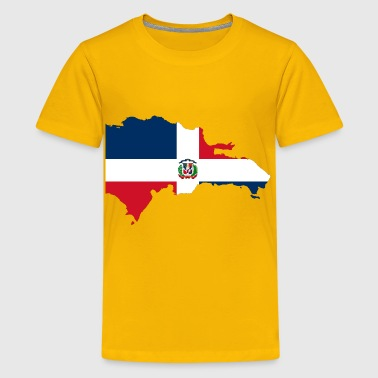 Dominican Republic Map Flag - Kids' Premium T-Shirt