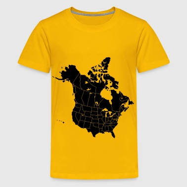 North America with states and provinces - Kids' Premium T-Shirt