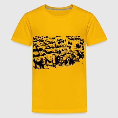 Buffalo herd - Kids' Premium T-Shirt