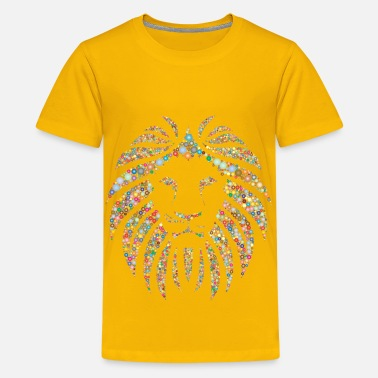 Lion King 2 Colorful Lion Circles 2 No Background - Kids' Premium T-Shirt