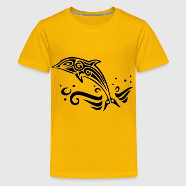 Tribal Dolphin - Kids' Premium T-Shirt