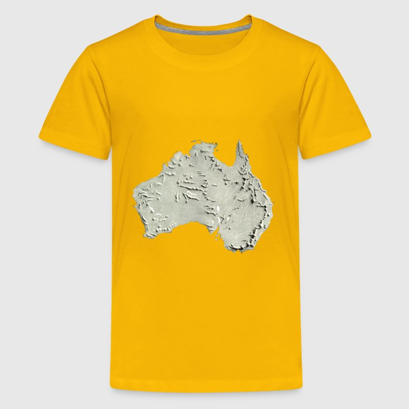 Australia relief map 2 - Kids' Premium T-Shirt
