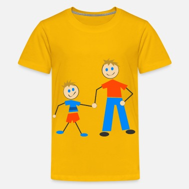 Family Guy Characters Stick Figure And Son - Kids' Premium T-Shirt