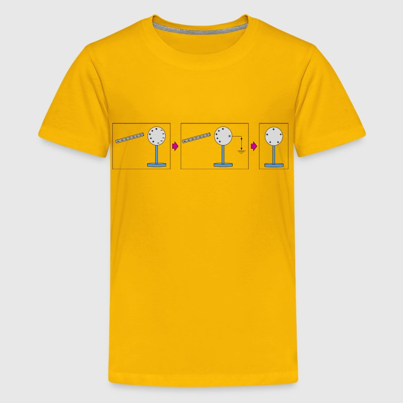 Physic diagram: charging by induction - Kids' Premium T-Shirt