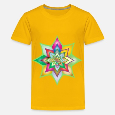 2-color Colorful Flower Silhouette 2 - Kids' Premium T-Shirt