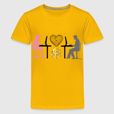 Woman And Man Online Relationship - Kids' Premium T-Shirt