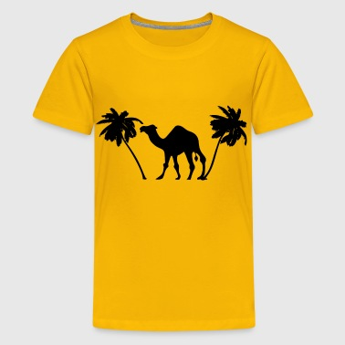 Camel Palm Trees Silhouette - Kids' Premium T-Shirt