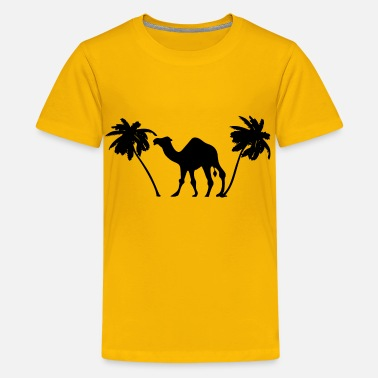 Anime Palm Tree Camel Palm Trees Silhouette - Kids' Premium T-Shirt