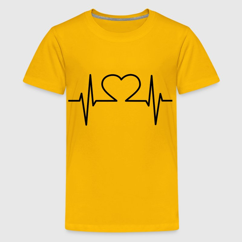 Heart EKG Black - Kids' Premium T-Shirt